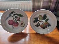 "2 x Portmeirion pomona side plates 7"""