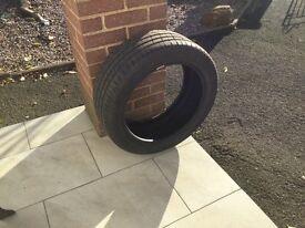 Jaguar XF car tyre