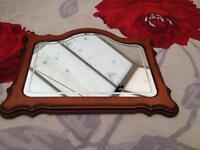 Beautiful ornate wooden framed mirror