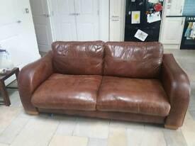 John Lewis Itallian Leather Sofa