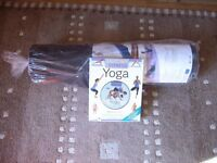 Yoga Book and DVD Set And Exercise Mat