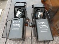 Acme Super Scimitar Barrel Scanners. Pair configured master slave to audio