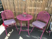 Pink garden set like new barely used