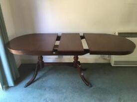 Dining table, mahogany, extending