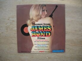 Themes from James Bond Films Carrs Sports picture cover 7 inch EP Vinyl
