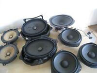 8 speakers + amplifier HARMAN KARDON , KARMANN SUB , vauxhall speaker