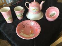 Whittard sex kitten tea pot , four large mugs, four large bowls, four small bowls