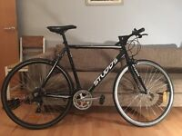 Studds 100 Flat Bar Road Bike - Black in great condition