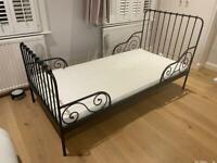 IKEA Minnen extendable bed and mattress