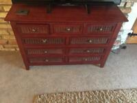 **WOODEN UNIT WITH DRAWS**