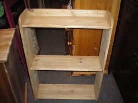 ANTIQUE PINE OPEN BACK BOOKCASE/SHELVING