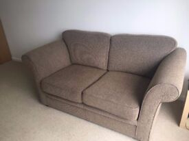 Two seater (2 seater) sofa brown great condition