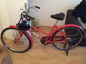 Red city bike