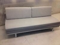 A Lovely, Grey MUJI 3 Seater Sofa Bed. Double Bed. Guest Bed. MUJI Sofabed. Single Bed. Cost £695