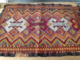 Antique/Vintage/Ethnic Textile, Linen, Table Runner, Norway, Collectible, Folk Art