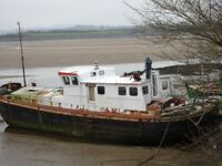 Humber Barge project - 74ft x 17.5 ft with 2 storeys - For sale or swap