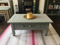 Painted pine coffee table