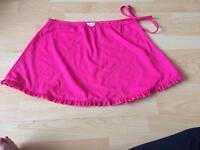 Women's fushia size 14 swim skirt
