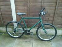 RALEIGH MOUNTAIN BIKE, 21 INS FRAME, 18 SPEED,