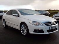 2010 Volkswagen passat CC, low miles, 5 seater, full black leather top spec lovely example