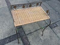 Wicker and metal table