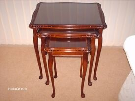 2 sets of Mahogany nest of tables