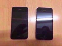 IPHONE 4S (x2 Iphone) / BOTH 16 GB / UNLOCKED / MINT / NO ICLOUD / SOFTWARE OR BATTERY PROBLEM