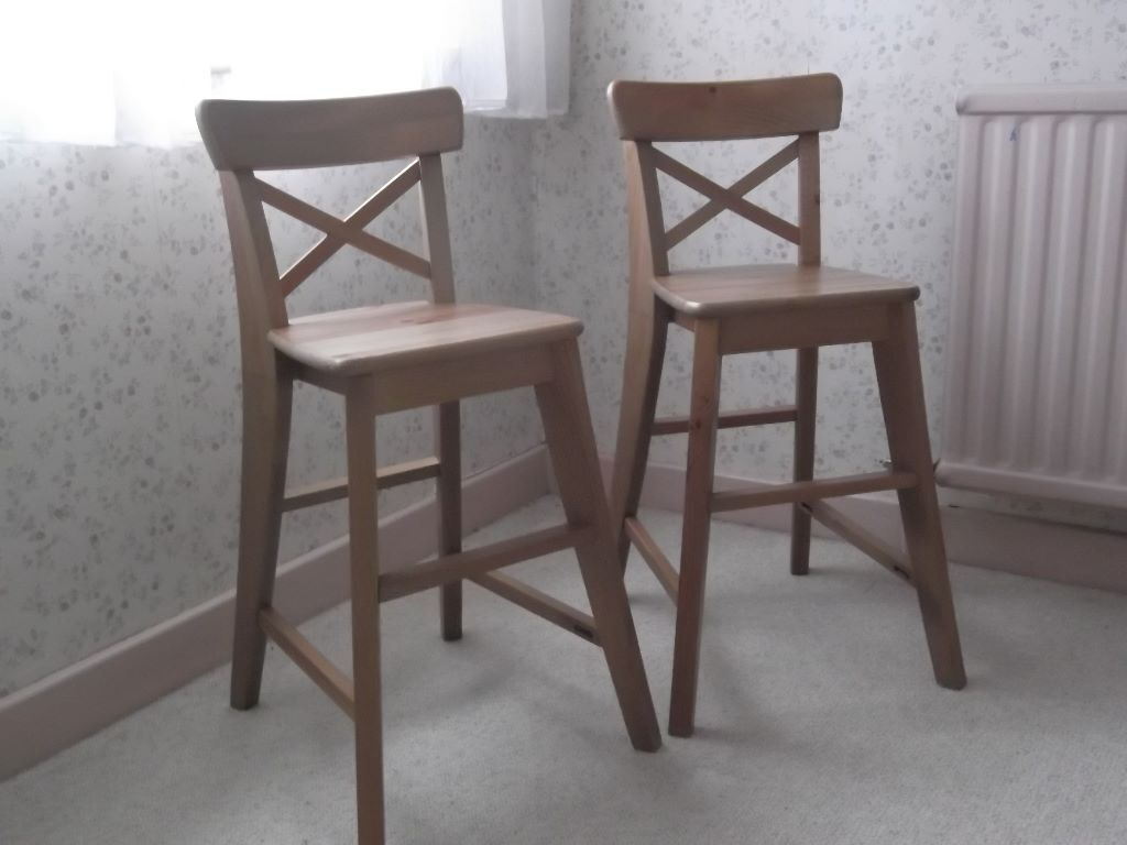 Two ikea ingolf junior chairs in penarth vale of for Chaise ingolf