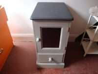 PINE STORAGE UNIT WITH DRAWER AND CUPBOARD