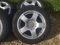 """Audi A6 Allroad 17"""" Split Rims Alloy Wheels fits A4, A6 Avant, VW 225/55 17"""