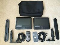 """7"""" Dual Portable DVD Player 2 off"""
