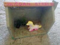 Unique Unicorn stable doll house. With Unicorn