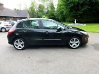 BLACK PEUGEOT 308 1.4, MOT 12 MONTHS, 1 KEEPER ONLY, EXCELLENT CONDITION AND DRIVE