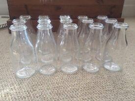 IKEA ENSIDIG glass vase milk bottles x15