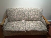 Edwardian Oak Framed Sofa