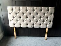 Gorgeous Upholstered Chesterfield Headboard for Kingsize Bed RRP £150