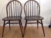 Original Ercol vintage chairs x 2