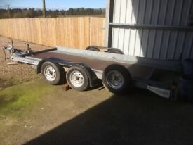 Brian James car trailer - transporter. Galvanised, lift and tilt.