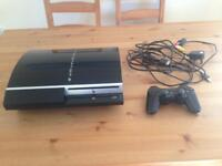 Playstation 3 with controller