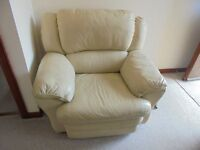 Suite comprisng Three Seater Settee (offers), Two Seater(£150), Reclining Chair(£150) all in Cream.