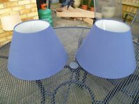 set of two matching lampshades
