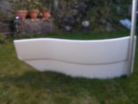 Curved Bath side panel