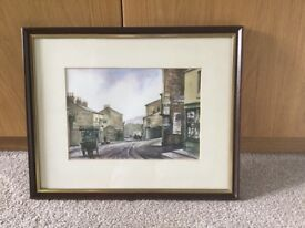 Original Watercolour by Ben Harris local Welsh Artist Abersychan 1910 H13in/33cmW16in/40.5cm
