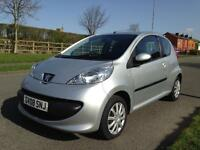 Peugeot 107 URBAN SEMI AUTOMATIC 3 door petrol, metallic silver. LOW MILES.