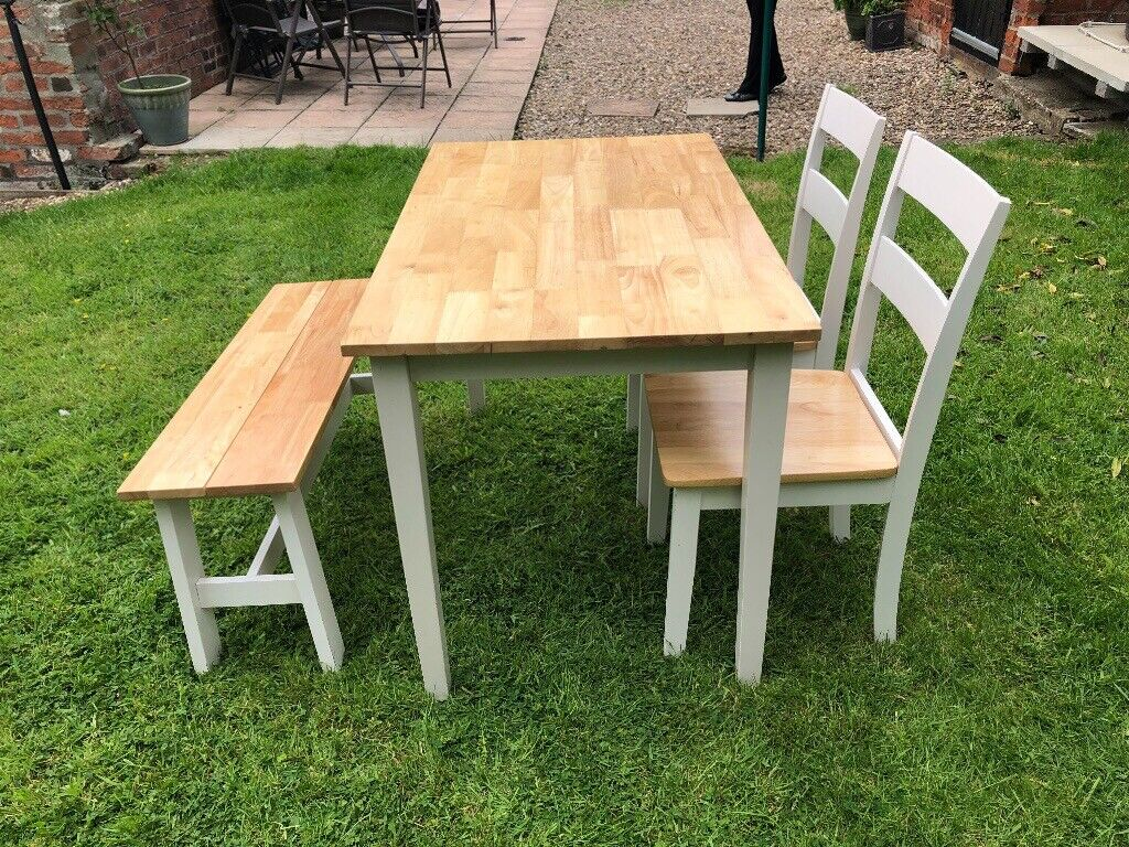 Dining table chairs and bench   in Hull, East Yorkshire   Gumtree