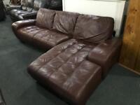 🎅 as new leather Corner Sofa