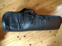 Leather trombone case