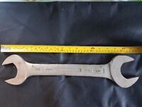 "Large Double Open Ended Spanner Matador 100 - 1 1/4 BSW and 1 1/8 BSW (Approx 2"" and 1"" 15/16"")"