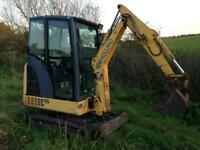 Mini digger hire with or without driver Clearance footings landscaping