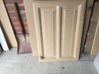 Used 12 Limed Oak Kitchen Doors & 5 matching Complete Drawers.